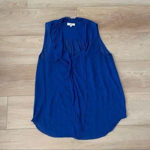 Aritzia babaton 100% silk blue sleeveless blouse M